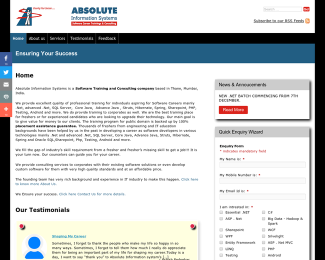 Absolute Information Systems