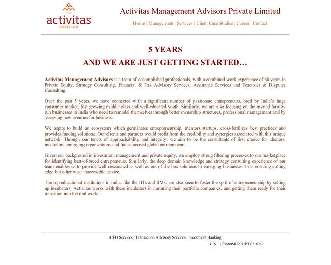 Activitas Management Advisors