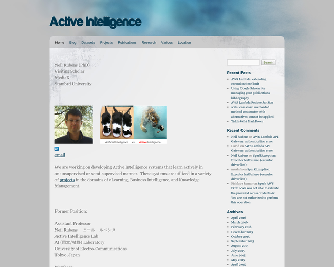 Active Intelligence