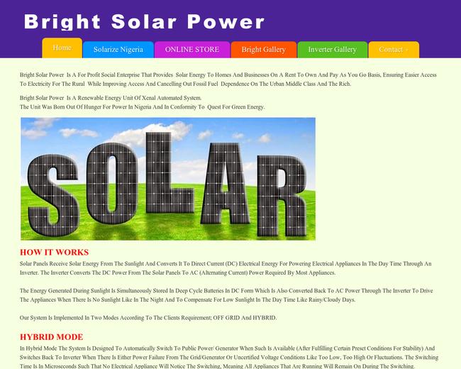 BRIGHT SOLAR POWER