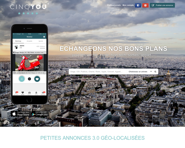 Cinq you - Classified advertisements 3.0