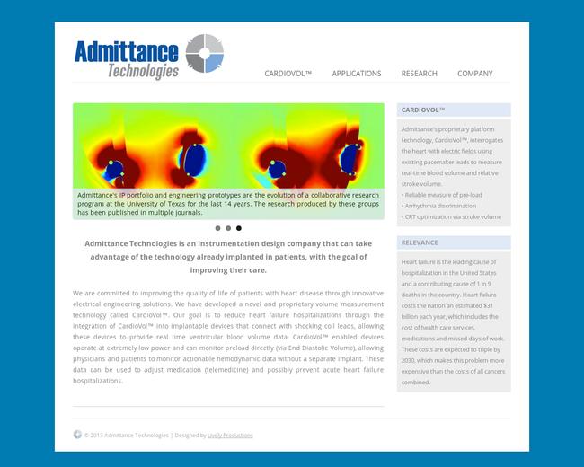 Admittance Technologies