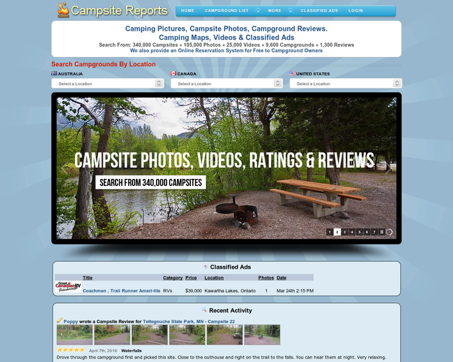 Campsite Reports