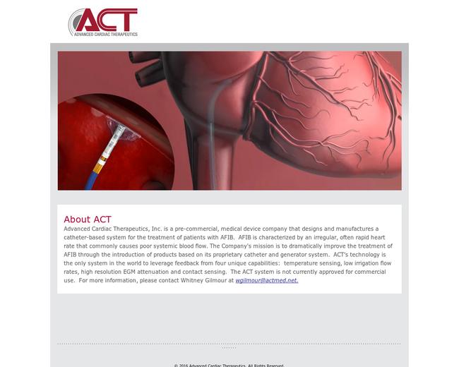 Advanced Cardiac Therapeutics