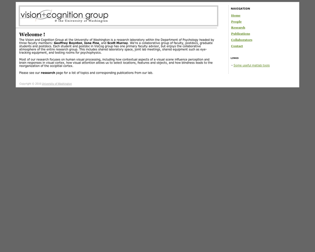U of Washington Vision + Cognition Group