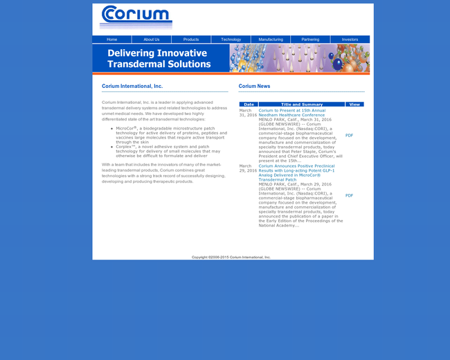 Corium International