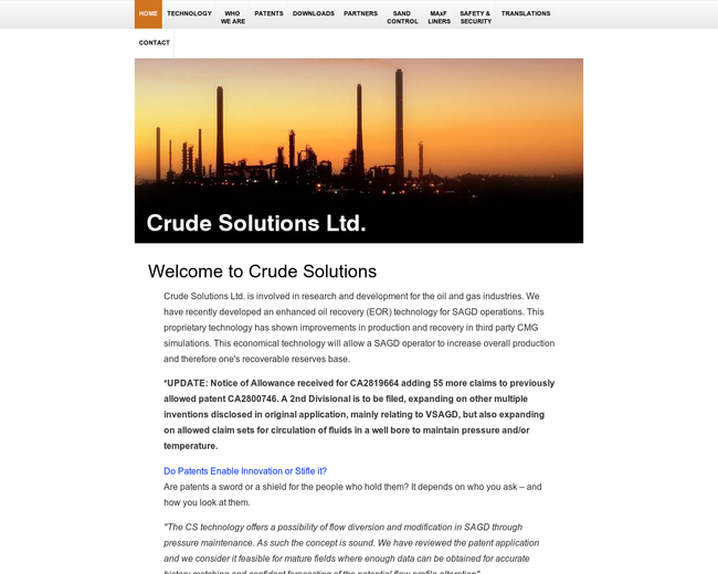Crude Solutions