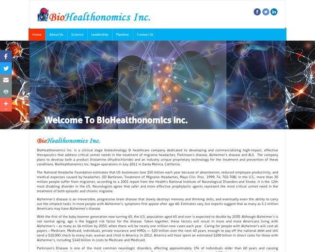 BioHealthonomics