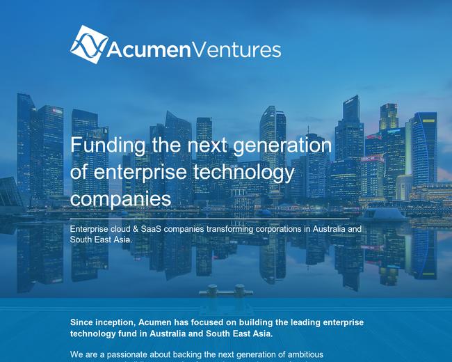 Acumen Ventures
