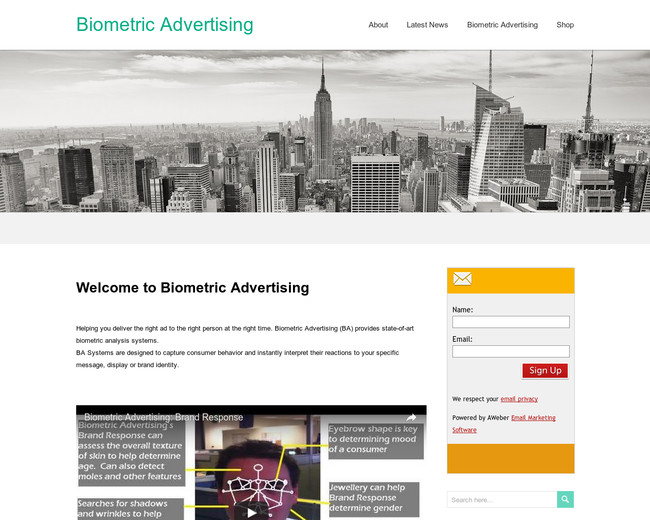 Biometric Advertising