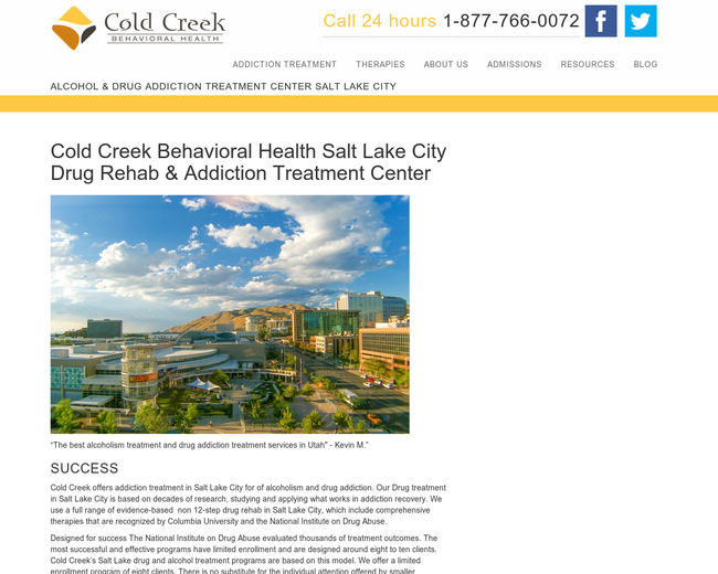 Cold Creek Behavioral Health Salt Lake