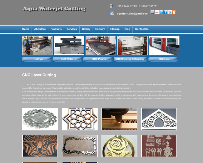 Aqua WaterJet Cutting