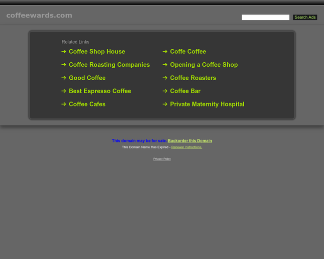 Coffeewards