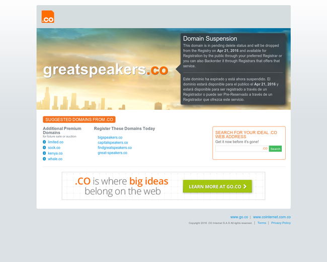 GreatSpeakers.co