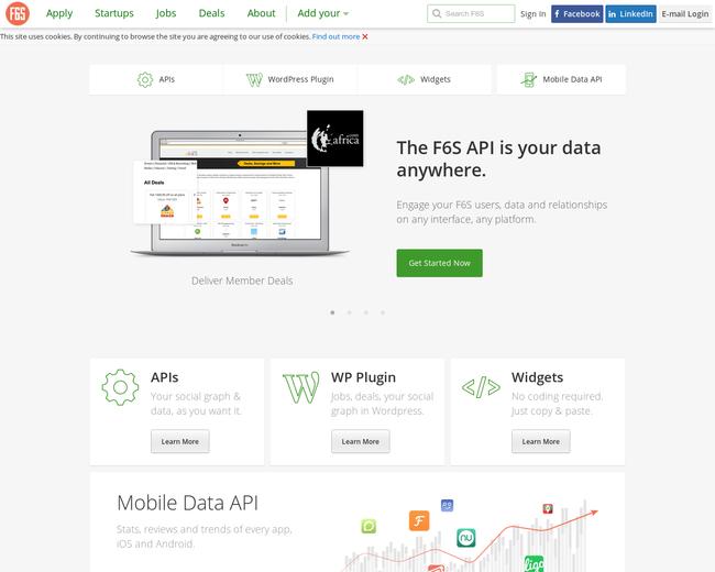 F6S Deals, Profiles, Applications