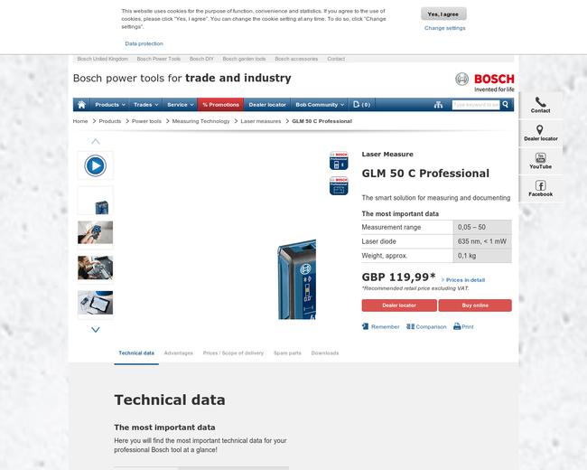 Bosch Laser Measure 2