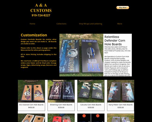 A & A Custom Cornhole
