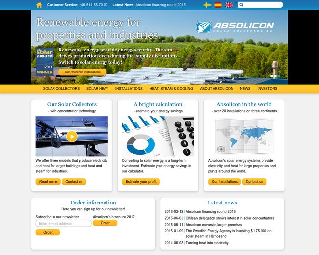 Absolicon Solar Concentrator