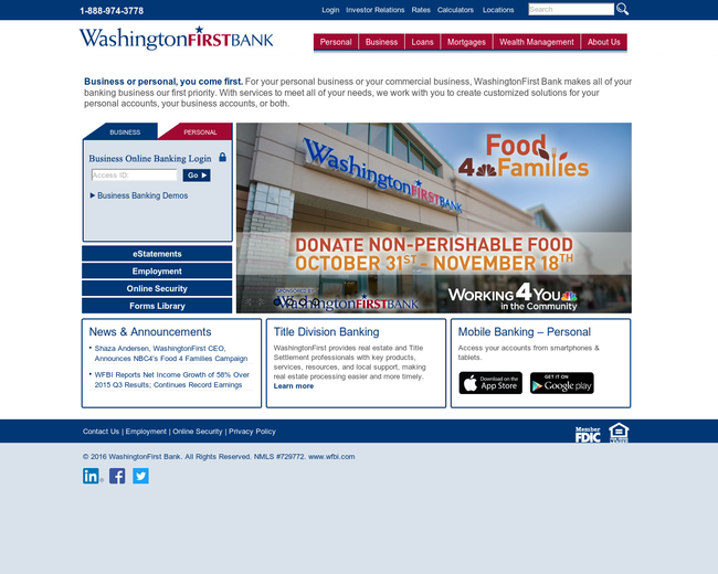 WashingtonFirst Bankshares