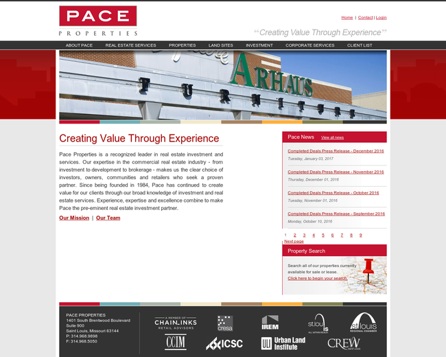 Pace Properties