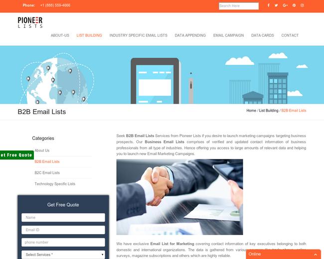 B2B Email Lists | Pioneer Lists