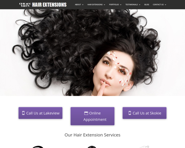 Chicago Hair Extensions Salon On Iterate Studio