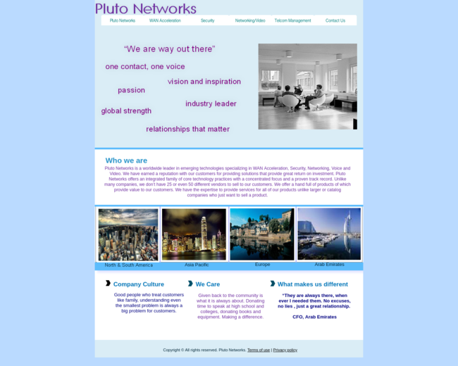 Pluto Networks