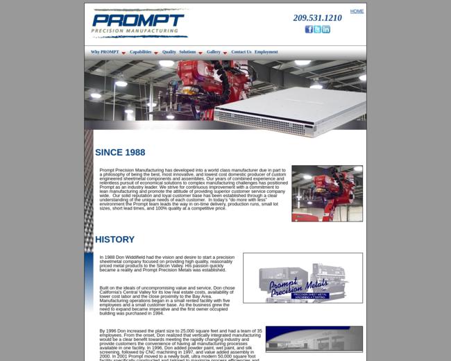 Prompt Precision Manufacturing