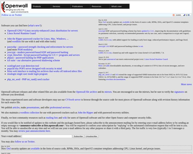 openwall free password list