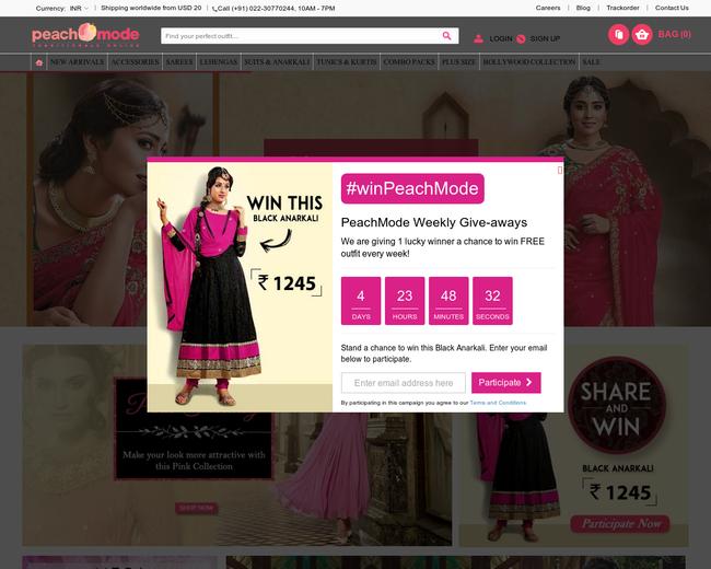 bebd5f2adb17 Peachmode. Peachmode. Peachmode. Peachmode is an e-commerce website which  sells women s ethnic wear.