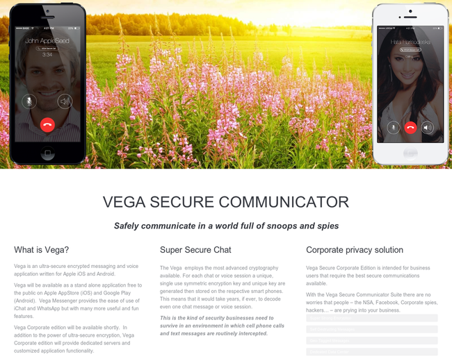 Secure Cloud Communications VEGA