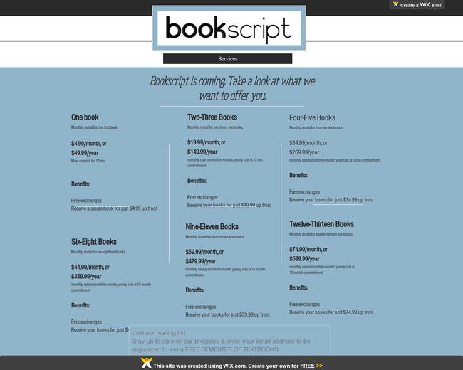 Bookscript