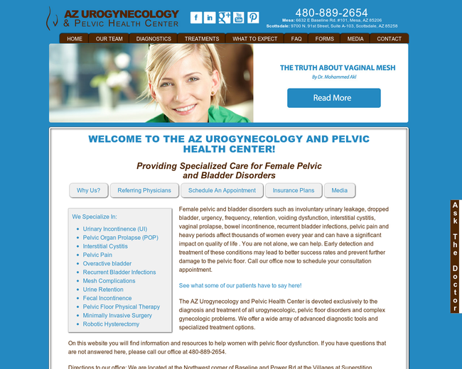 AZ Urogynecology & Pelvic Health Center