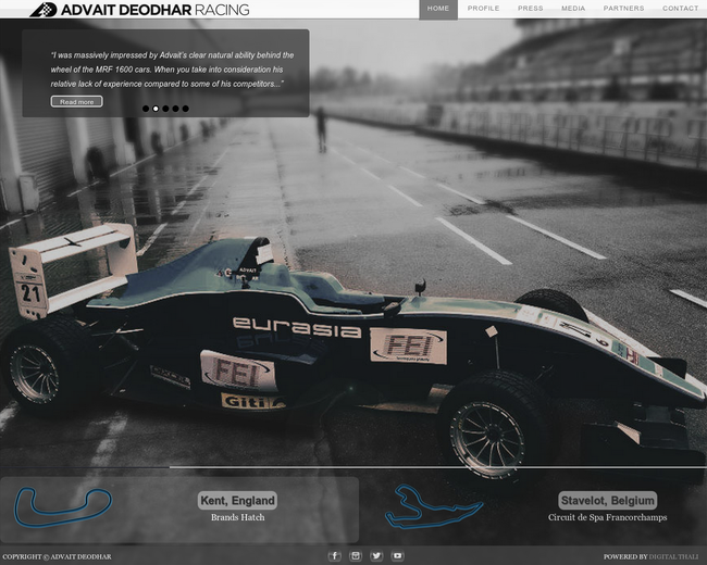Advait Deodhar Racing Driver Investment
