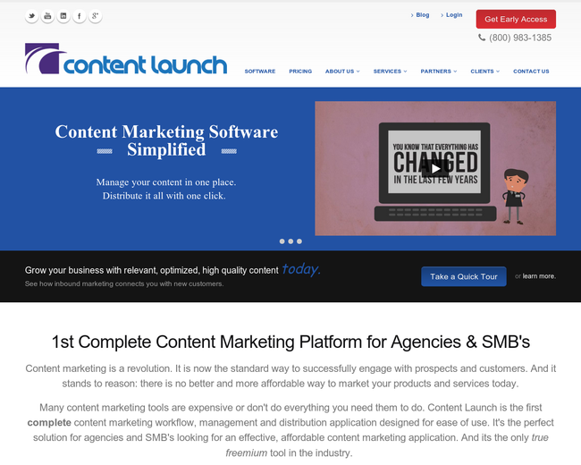 Content Launch
