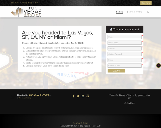 The Vegas Hook Up