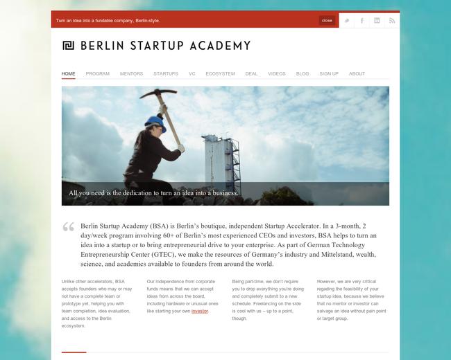 Berlin Startup Academy