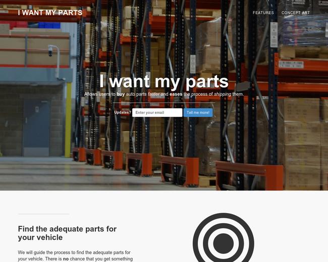 I want my parts