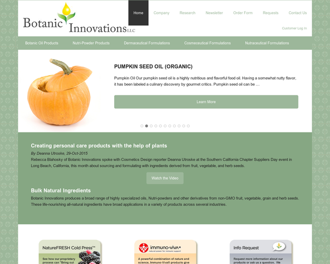 Botanic Innovations