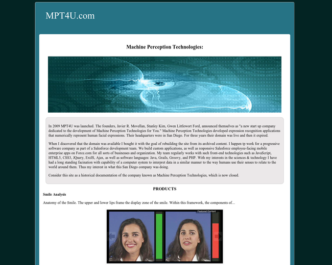 Machine Perception Technologies