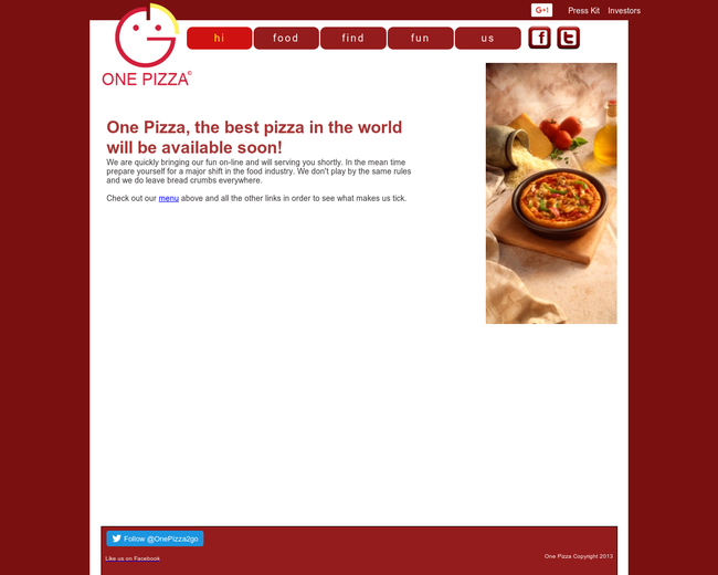 One Pizza