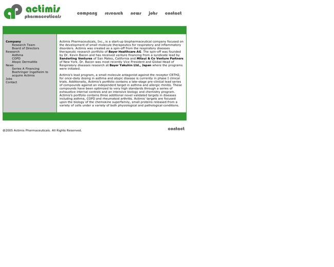 Actimis Pharmaceuticals