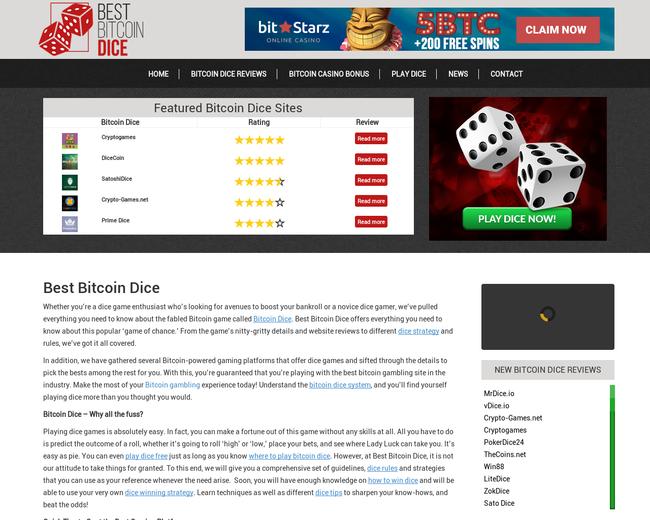 Best Bitcoin Dice