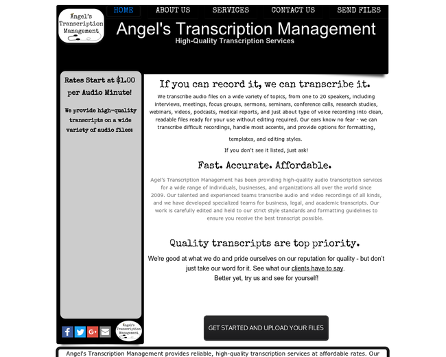 Angel's Transcription Management