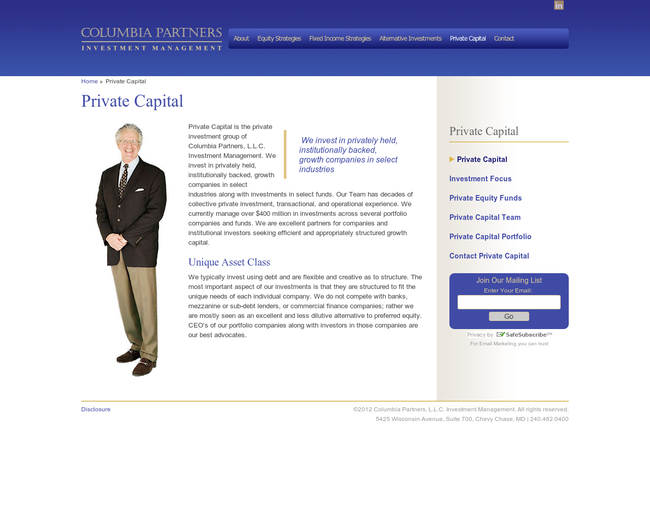 Columbia Partners Private Capital