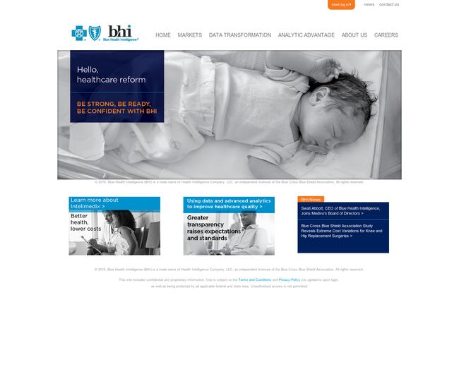 Blue Health Intelligence(BHI)