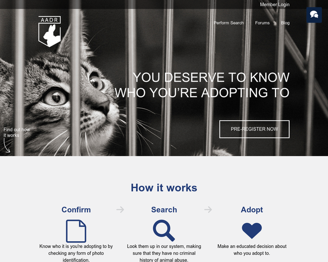 Animal Abuse Defense Registry
