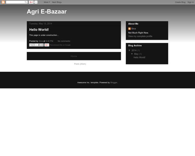 Agri E-Bazaar