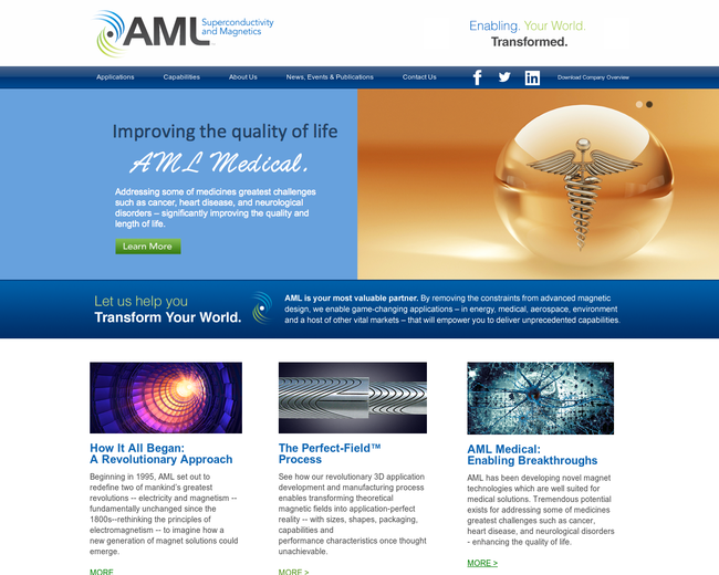 AML Superconductivity and Magnetics