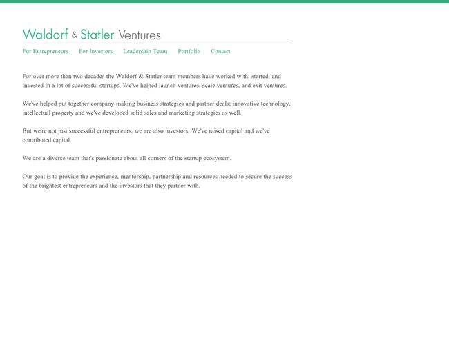 Waldorf and Statler Ventures
